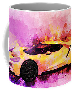 2018 Ford Gt Watercolour Whatta Ride Coffee Mug