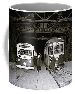 207th Street Crosstown Trolley Coffee Mug by Cole Thompson