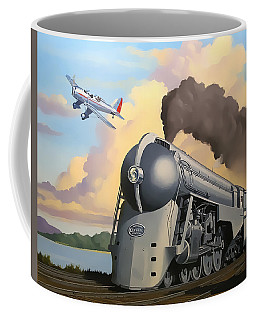 20th Century Limited And Plane Coffee Mug