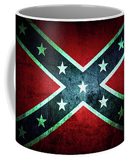 Coffee Mug featuring the photograph Confederate Flag by Les Cunliffe