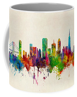 San Francisco City Skyline Coffee Mug