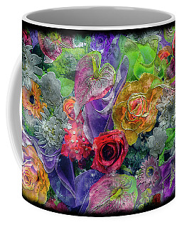 21a Abstract Floral Painting Digital Expressionism Coffee Mug