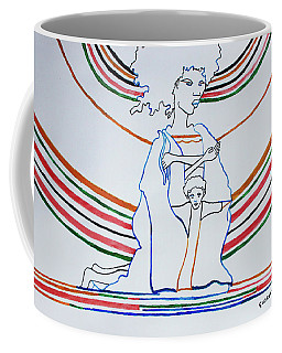 Madonna And Child Coffee Mug by Gloria Ssali