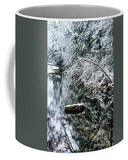 Coffee Mug featuring the photograph Winter Along Cranberry River by Thomas R Fletcher