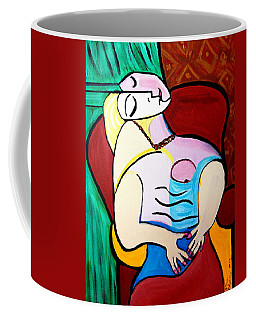Sleeping In Brown Chair  Picasso Coffee Mug