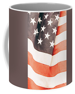 Coffee Mug featuring the photograph American Flag by Les Cunliffe