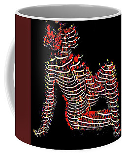 2450s-mak Lined By Light Nude Woman Rendered As Abstract Oil Painting Coffee Mug by Chris Maher