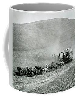 25 Mule Old School Harvesting - Palouse - Eastern Washington  1940 Coffee Mug