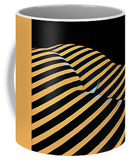 2612s-ak Abstract Rear Butt Bum Thighs Zebra Striped Woman In Composition Style Coffee Mug by Chris Maher
