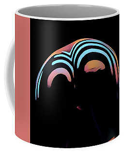 2696s-ak Zebra Striped Woman Rear View In Composition Style Coffee Mug