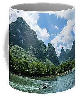 Lijiang River And Karst Mountains Scenery Coffee Mug