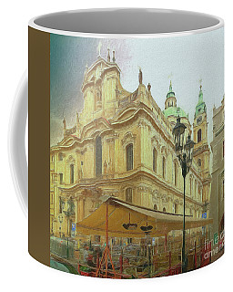 Coffee Mug featuring the photograph 2nd Work Of St. Nicholas Church - Old Town Prague by Leigh Kemp