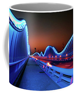 Amazing Night Dubai Vip Bridge With Beautiful Sunset. Private Ro Coffee Mug