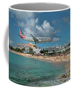 American Airlines At St. Maarten Coffee Mug by David Gleeson