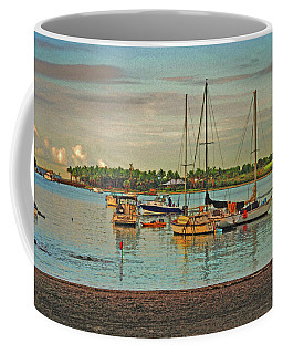 Coffee Mug featuring the digital art 3- Anchored Out by Joseph Keane