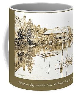 Arrow Head Lake, Philippine Village, 1904 Worlds Fair, Vintage P Coffee Mug