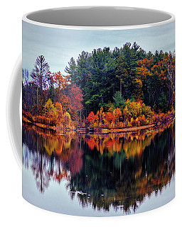 Coffee Mug featuring the photograph Autumn Reflections by Lilia D