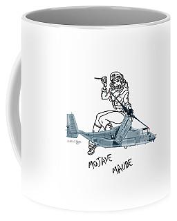 Coffee Mug featuring the digital art Bell Boeing Cv-22b Osprey Mojave Maude by Arthur Eggers