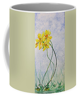 Coffee Mug featuring the painting 3 Blooms Dancing by Gary Smith