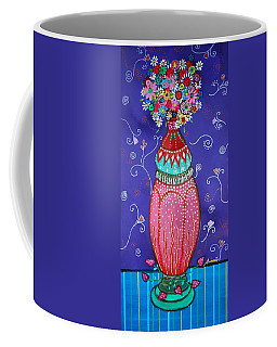 Coffee Mug featuring the painting Blooms by Pristine Cartera Turkus