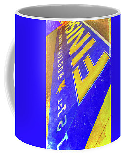 Coffee Mug featuring the photograph Boston Marathon Finish Line by Joann Vitali