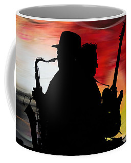 Bruce Springsteen Clarence Clemons Coffee Mug by Marvin Blaine