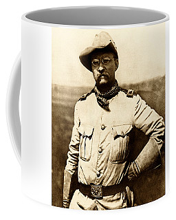 Coffee Mug featuring the photograph Colonel Theodore Roosevelt by War Is Hell Store