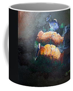 Coffee Mug featuring the painting 3 Cracked Urns by Gary Smith