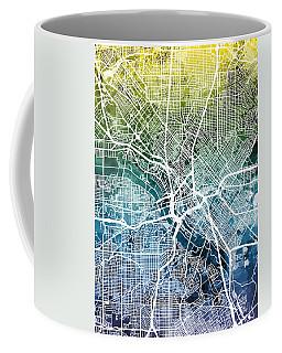 Dallas Texas City Map Coffee Mug
