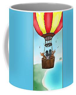3 Dogs Singing In A Hot Air Balloon Coffee Mug