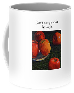 Don't Worry About Fitting In Title On Top Coffee Mug