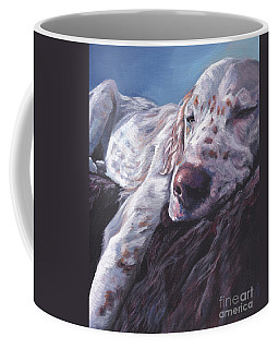 Coffee Mug featuring the painting English Setter by Lee Ann Shepard