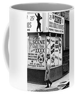 Film Homage Hard Core 1979 Porn Theater The Combat Zone Boston Massachusetts 1977 Coffee Mug