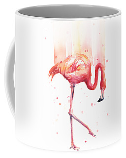 Flamingo Watercolor Coffee Mug