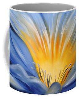 From The Heart Of A Flower Blue Coffee Mug