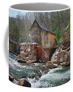 Glade Creek Grist Mill Coffee Mug by Mary Almond