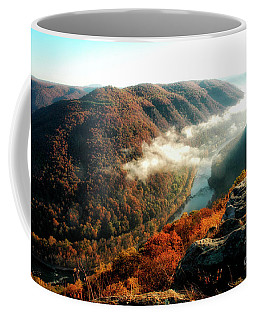 Coffee Mug featuring the photograph Grandview New River Gorge by Thomas R Fletcher