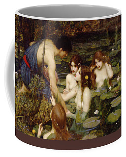 Coffee Mug featuring the painting Hylas And The Nymphs by John William Waterhouse