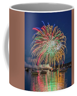 Independence Day Fireworks In Boothbay Harbor Coffee Mug
