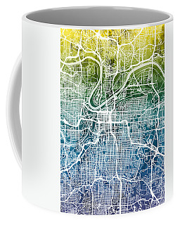 Kansas City Missouri City Map Coffee Mug