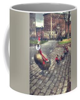Coffee Mug featuring the photograph Make Way For Ducklings - Boston Public Garden by Joann Vitali
