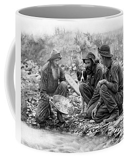3 Men And A Dog Panning For Gold C. 1889 Coffee Mug