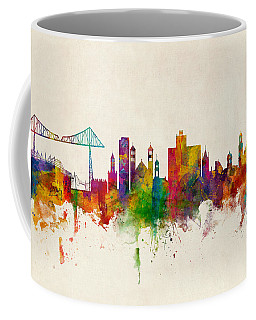 Middlesbrough England Skyline Coffee Mug