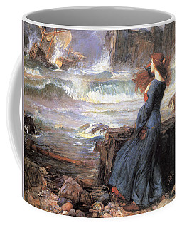 Coffee Mug featuring the painting Miranda - The Tempest by John William Waterhouse