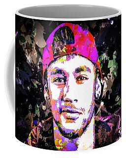 Coffee Mug featuring the mixed media Neymar by Svelby Art