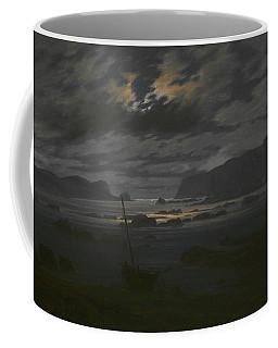 Northern Sea In The Moonlight Coffee Mug by Caspar David Friedrich