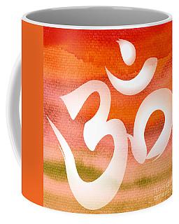 Om Symbol. Orange Coffee Mug