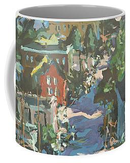 Coffee Mug featuring the painting Original Contemporary Urban Painting Featuring Richmond Virginia by Robert Joyner