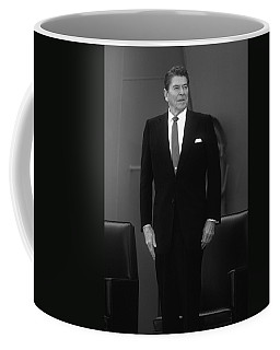 Coffee Mug featuring the photograph President Ronald Reagan by War Is Hell Store