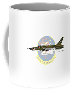 Republic F-105g Wild Weasel 17ww Coffee Mug by Arthur Eggers